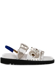 Toga Pulla Contrast Buckled Sandals 60