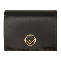 Black 'F Is Fendi' Bifold Wallet