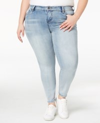 Celebrity Pink Plus Size Distressed Skinny Ankle Jeans Duty Free