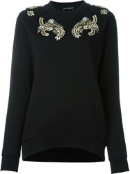 Dolce And Gabbana Embellished Sweatshirt Black