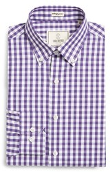 Men's Big And Tall Todd Snyder White Label Trim Fit Check Dress Shirt Purple Heart