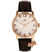 Radley Women's Liverpool Street Leather Strap Watch Cocoa Cream
