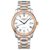Longines L27935117 Men's Master Collection Automatic Date Two Tone Bracelet Strap Watch Silver Rose Gold