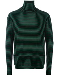Lanvin Striped Turtle Neck Sweater Black
