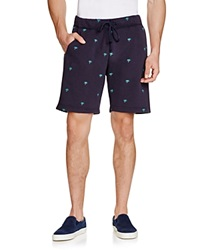 Burkman Brothers Fleece Palm Tree Shorts Navy