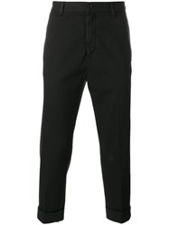 Love Moschino Cropped Chino Trousers Black