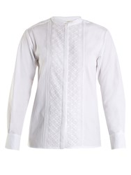 Vanessa Bruno Hevin Lace Trimmed Cotton Top White