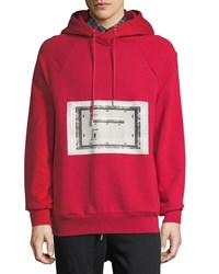 Public School Bobo Graphic French Terry Hoodie Red