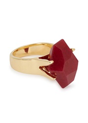 Lola Rose Dakar Gold Tone Ring Red