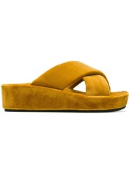 Peter Non Cross Strap Sandals Yellow And Orange