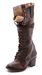 Freebird By Steven Granny Tall Combat Boots Brown