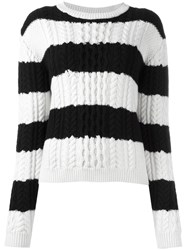 Chinti And Parker Striped Jumper Black