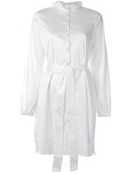 Opening Ceremony Belted Shirt Dress White