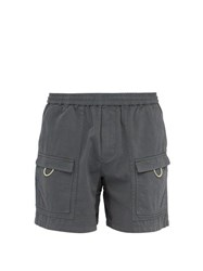 Acne Studios Cotton Cargo Shorts Grey