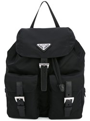 Prada Robot Studded Backpack Black