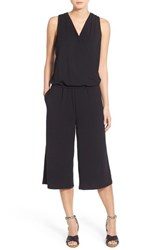 Halogen Women's Sleeveless Jersey Crop Jumpsuit Black