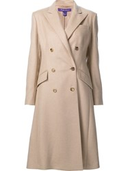 Ralph Lauren 'Fabian' Lightweight Coat Nude And Neutrals