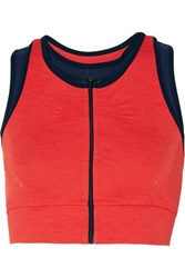 Lndr Blackout Layered Stretch Sports Bra Coral