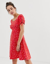 Superdry Red Paisley Print Dress Multi