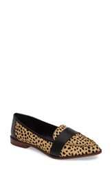 Sole Society Women's Edie Pointy Toe Loafer Cheetah Calfhair