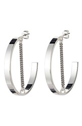 Jenny Bird Women's Mia Hoop Earrings Silver