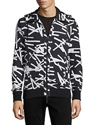 Madison Supply Printed Elongated Hoodie Stick Print