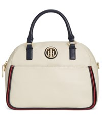 Tommy Hilfiger Alice Small Dome Satchel Oatmeal