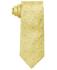 Brooks Brothers Men's Polka Dot Textured Classic Tie Yellow