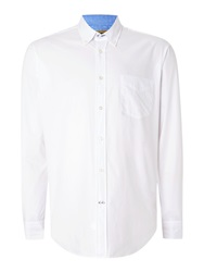 T.M.Lewin Oxford Relaxed Fit Casual Shirt White
