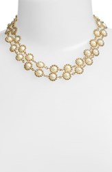 Women's Anne Klein Faux Pearl 2 Row Collar Necklace