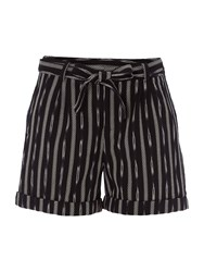 White Stuff Izzie Ikat Short Black