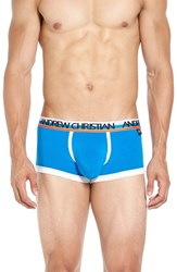 Andrew Christian Men's 'Almost Naked Sports' Boxer Briefs Electric Blue
