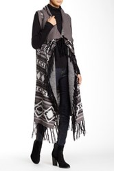 Romeo And Juliet Couture Long Fringe Vest Black