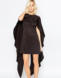 Lavish Alice Maxi Cape Shift Dress Black