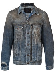 R 13 R13 Zipped Detail Denim Jacket Blue
