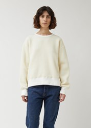 Chimala Quilted Crew Top Off White