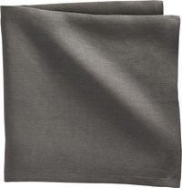 Cb2 Set Of 4 Bolt Grey Linen Napkins