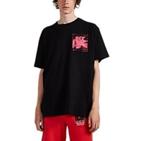 Off White C O Virgil Abloh Logo Skeleton And Corpse Cotton T Shirt Black