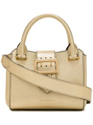 Burberry Small Buckle Tote Metallic