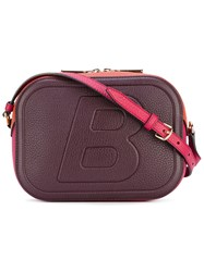 Bally Zipped Camera Bag Women Leather One Size Pink Purple
