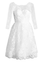 Chi Chi London Charlize Cocktail Dress Party Dress White
