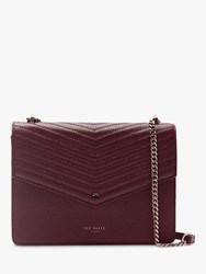 Ted Baker Kalila Leather Crossbody Bag Dark Purple