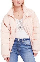 Free People Cold Rush Puffer Jacket Rose