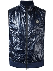 Stone Island Quilted Gilet Blue