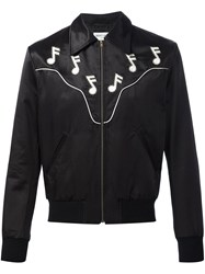 Saint Laurent 'Rock' Bomber Jacket Black