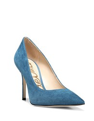 Sam Edelman Hazel Suede Point Toe Pumps Teal