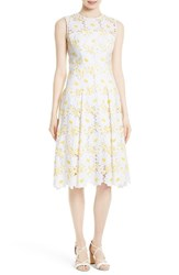 Milly Women's Petal Eyelet Fit And Flare Dress