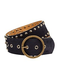 Maje Flower Stud Belt Female Black