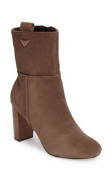 Sole Society Women's Wes Bootie Dark Taupe Suede