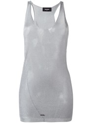 Dsquared2 Transparent Panel Tank Top Metallic